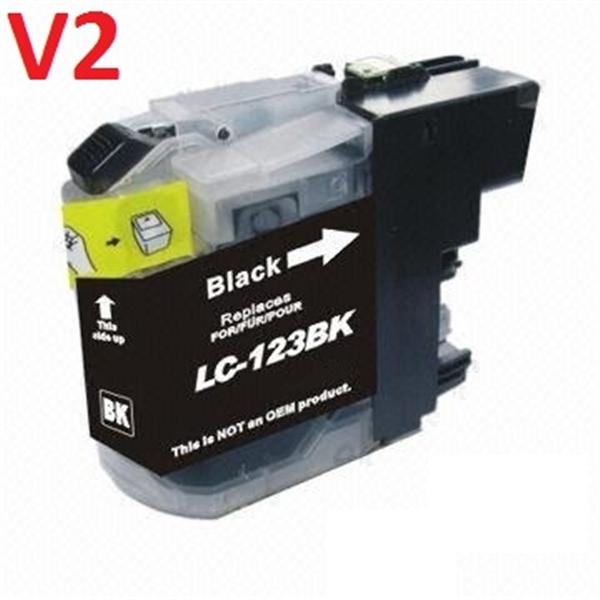 Tinteiro Compatível Brother LC121BK/LC123BK Preto