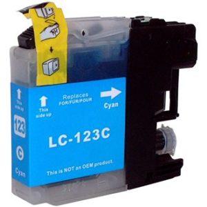 Tinteiro Compatível Brother LC121C/LC123C Azul