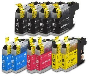 10 Tinteiros Compatíveis Brother LC123 / LC121 4BK 2CMY