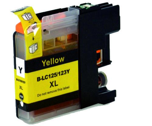 Tinteiro Compatível BrotherLC125XLY Amarelo