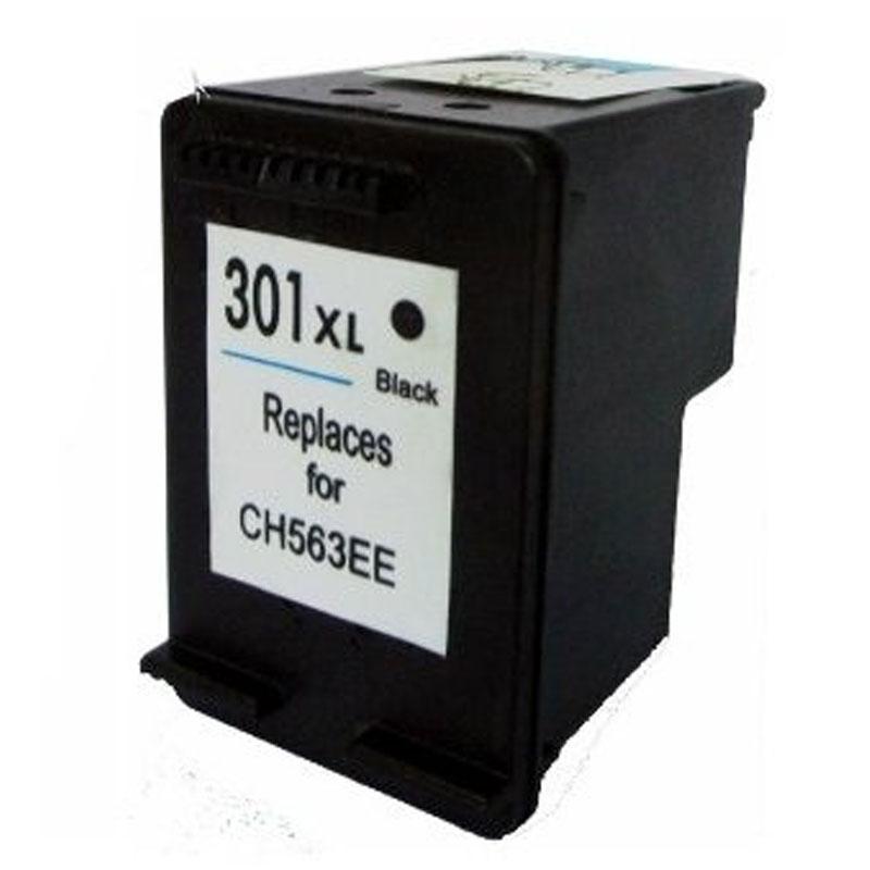 Tinteiro Compatível/Reciclado HP 301XL Preto