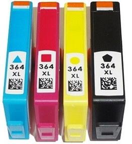 Conjunto de Tinteiros compatíveis HP 364XL