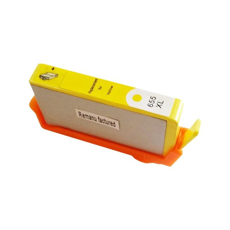 Tinteiro Compatível HP 655 CZ112AE Amarelo (Yellow)