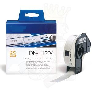 Etiquetas Compatíveis Brother DK11204