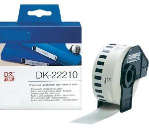 Etiquetas Compatíveis Brother DK22210