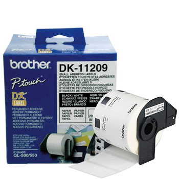 Etiqueta Brother Original DK11209 (62x29mm. 800 etiquetas)