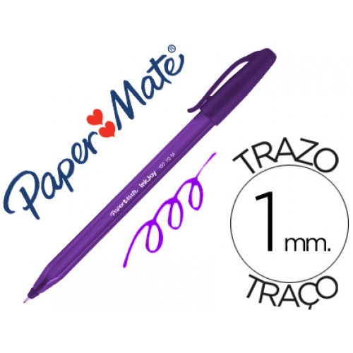 ESFEROGRÁFICA PAPER MATE INKJOY 100 VIOLETA