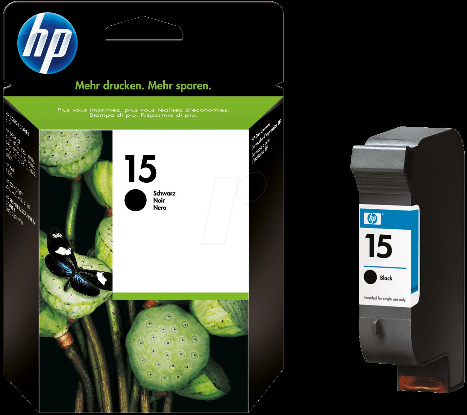 Tinteiro HP DeskJet 810C/816C (C6615D) Nº15 Preto