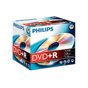DVD+R Philips 4.7GB 16X Jewell Case 10