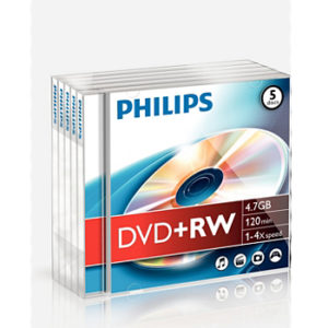 DVD+RW Philips 4.7GB 4X Jewell Case 5