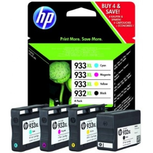 Combo Pack 4 Tinteiros HP OfficejetPro 6100 Nº932XL/933LX