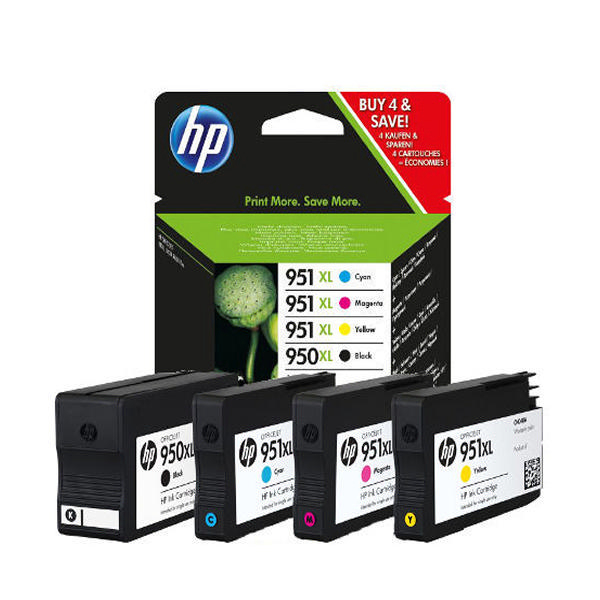Combo Pack 4 Tinteiros HP OfficejetPro 8100 Nº950XL/951XL