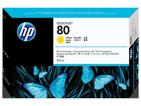 Tinteiro HP DSJ1050C/1055CM Nº80 350ml Amarelo