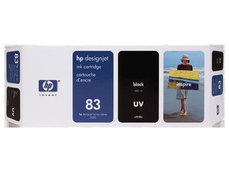 Tinteiro UV DesignJet 5000 (C4940A) Nº83 Preto