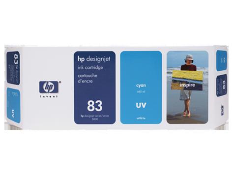 Tinteiro UV DesignJet 5000 (C4941A) Nº83 Azul