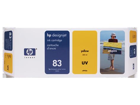 Tinteiro UV DesignJet 5000 (C4943A) Nº83 Amarelo