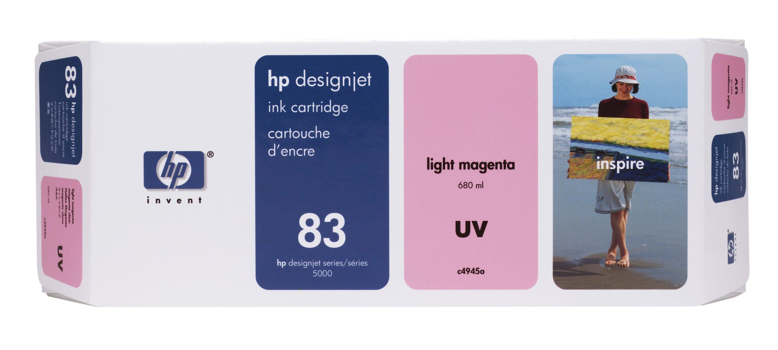 Tinteiro UV DesignJet 5000 (C4945A) Nº83 Magenta Claro