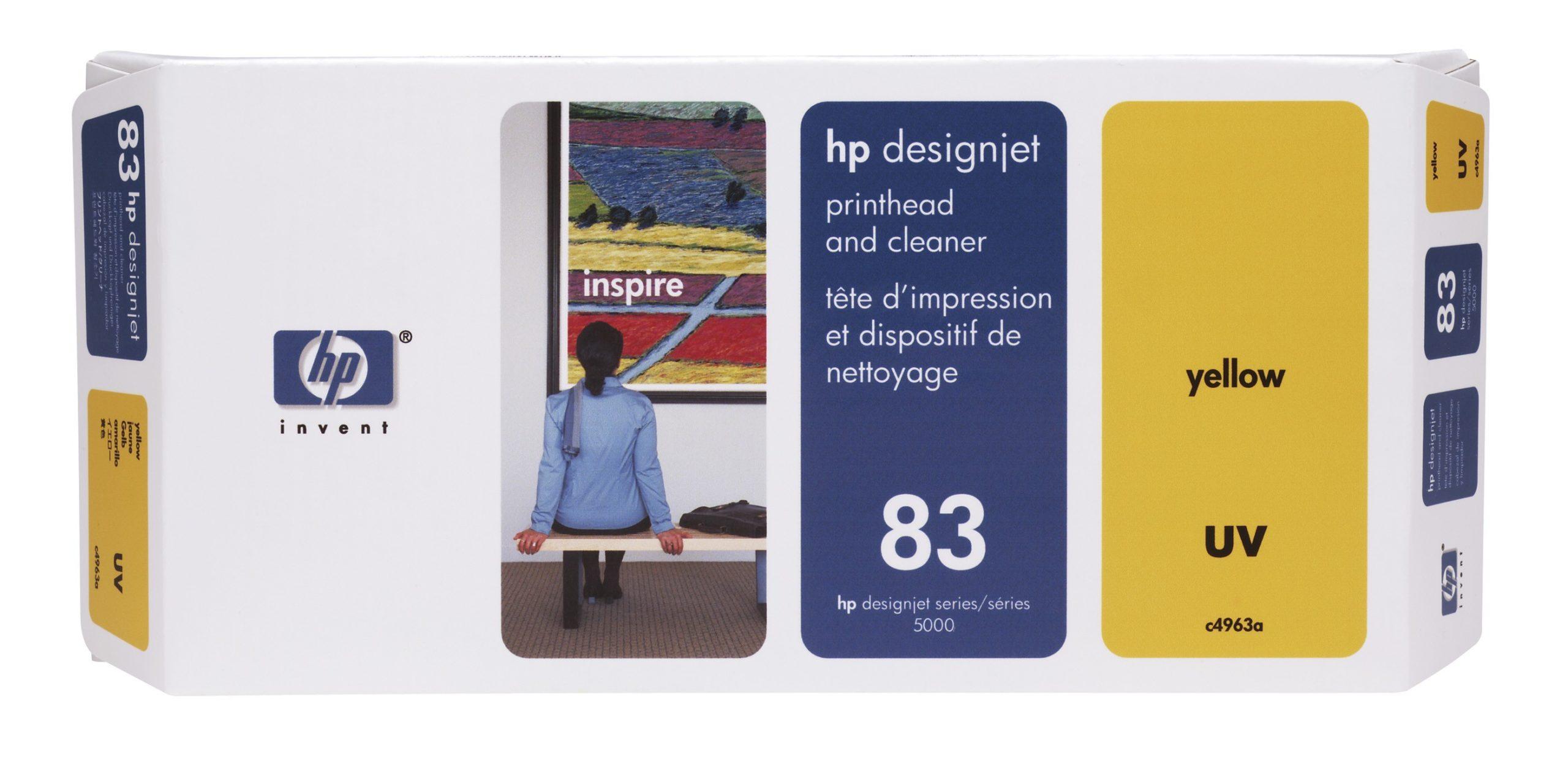 Cabeca de Impressao e Limpeza UV (C4963A) Nº83 Amarelo