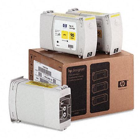 Tinteiro DesignJet 4000 (C5085A) Nº90 Amarelo Pack 3x400ml