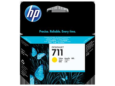 Tinteiro HP Dsignjet T120/T520 Nº711 Amarelo
