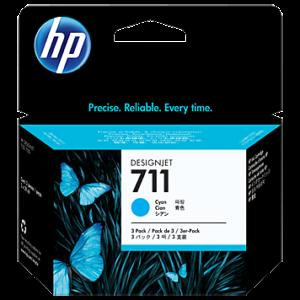 Tinteiro HP Dsignjet T120/T520 Nº711 Azul Pack3
