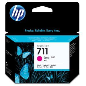 Tinteiro HP Dsignjet T120/T520 Nº711 Magenta Pack3