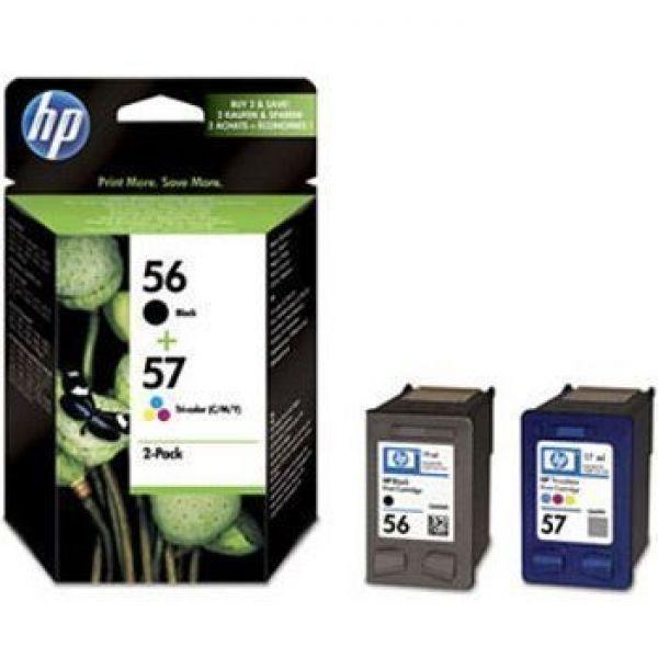 Tinteiro Deskjet C6656A + C6657A nº56+nº57 Pack