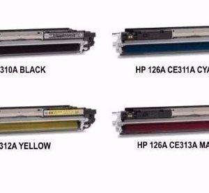 Conjunto de Toners Compatíveis HP CE310A/CE311A/CE312A/CE313A nº126A