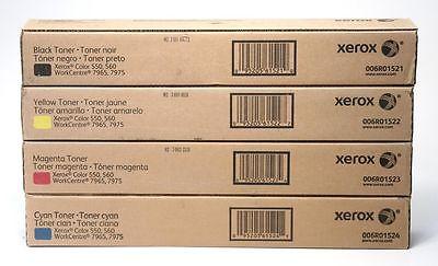 Xerox® WorkCentre™ 7965 7975 Color 550 560 CMYK Toner Set 006R01521 006R01522 006R01523 006R01524