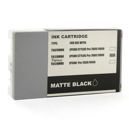 Tinteiro Compatível EPSON T612800/T567800 PRETO MATE