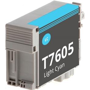 Tinteiro Compatível EPSON T7605 Azul Claro