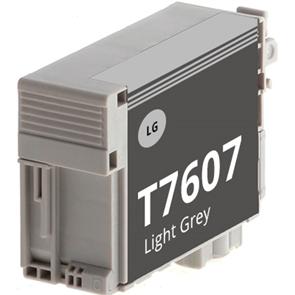Tinteiro Compatível EPSON T7607 Cinzento Claro