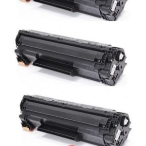 Conjunto 3x Toner HP 83A Black CF283A Compativel
